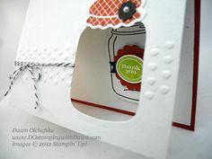 stampin up, dostamping, dawn olchefske, demonstrator, perfecty preserved, window card, big shot