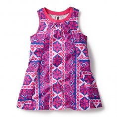 Pink Sleeveless Parasol Trapeze Dress for Little Girls | Tea Collection. So glad we got one before it sold out!