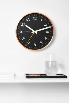 Now Clock in Black & Copper by Cloudnola | From Cloudnola.me