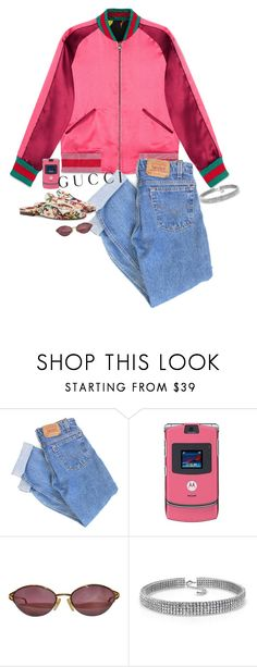 """right here right now – contest entry"" by katrinaballerina ❤ liked on Polyvore featuring Gucci, Levi's, Motorola, Christian Dior, Bling Jewelry, floral and gucci"