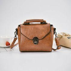 Women PU Leather Retro Style Crossbody Bag Messenger Bag