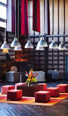 BLUE Sydney, a hip new hotel from Taj Hotel group, marries industrial glamour with luxurious service and serene vistas of the harbor.