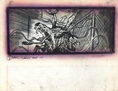 The Thing concept art & storyboards by Mike Ploog.