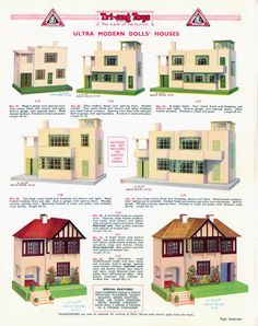 Dolls houses, © Lines Bros. Ltd. 1937.