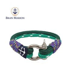 Keelan Nautical Bracelet by Bran Marion Nautical Bracelet, Nautical Jewelry, Marine Rope, Captain Hook, Everyday Look, Handmade Bracelets, Color Combinations, Different Colors, Jewelry Collection