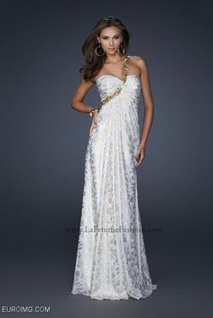 White And Gold Prom Dresses 2013