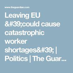 Leaving EU & cause catastrophic worker shortages& Work Visa, The Guardian, Politics, Leaves, Self