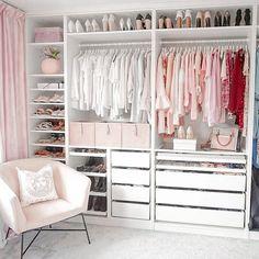 Bedroom Closet Design, Master Bedroom Closet, Room Ideas Bedroom, Closet Designs, Bedroom Decor, Dream Rooms, Dream Closets, Ikea Pax Closet, Dressing Room Design