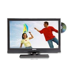 Sanyo LCE19LD40DV-B 19-inch Widescreen LED TV with Preview in Built DVD – Black