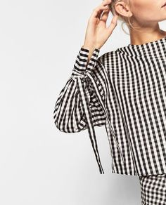 82d2dd0c0807 Image 2 of GINGHAM CHECK TOP from Zara Gingham Check