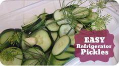 Easy Refrigerator Pickles | No Canning! | #45  | Subscribe: http://youtube.com/PepperScraps