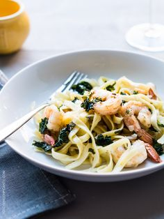 Kale and Shrimp Scampi