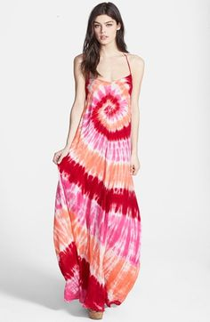 Young, Fabulous & Broke 'Fortune' Tie Dye Maxi Dress available at #Nordstrom  cute!