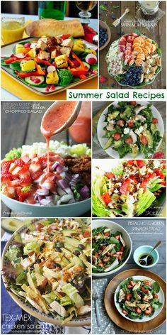 Summer Salad #Recipes http://www.momsandmunchkins.ca/2014/06/01/summer-salad-recipes/