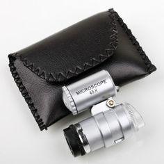 1 pc גודל 45X Pocket מיני מיקרוסקופ זכוכית מגדלת Jeweler זכוכית מגדלת עדשת זכוכית Loup 2LED אור זכוכית מגדלת מגדלת