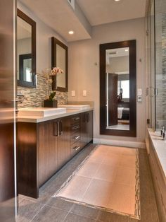 Narrow Bathroom Tile Ideas