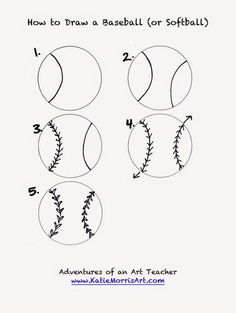 how to draw sports adventures of an art teacher - Easy Sports Drawings