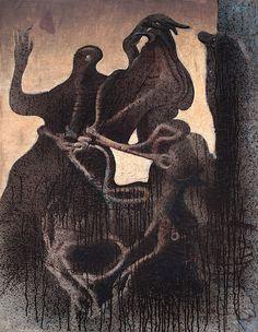 """Max Ernst, """"Zoomorphic Couple,"""" 1933"""
