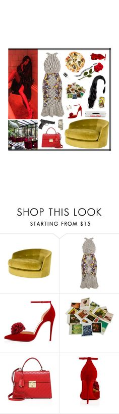 """""""Blame me for your false indicators You mistaken all my mistakes for my crooked nature"""" by alxksandria ❤ liked on Polyvore featuring Jayson Home, Saloni, Christian Louboutin, Chronicle Books, Gucci and Smith & Wesson"""