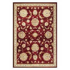 KAS Rugs Cambridge 735 Allover Mahal Area Rug Red - CAM735533X411, KAS506-4 #RedRugs