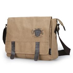 Men Canvas Vintage Business Casual Outdoor Crossbody Bag Men's Bags, Papua New Guinea, Grenadines, Seychelles, Ethiopia, Grenada, St Kitts And Nevis, Business Casual, Cambodia