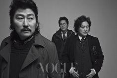 Song Kang-ho, Park Chan-kyong, & Park Chan-wook // Vogue Korea // February 2013