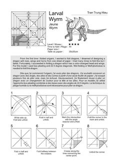 Dragon Dreaming, Origami Instructions, Paper Size, Crafts, Pokemon, Design, Random, Kids, Origami Diagrams
