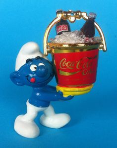Coca-Cola Smurf --- (This reminds me of my childhood Smurfs..)