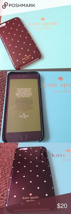 Kate Spade IPhone 6 Plus/iPhone 6s plus Case Black with white polka dots. Brand new Kate spade iPhone case. Will fit iPhone 6 Plus and iPhone 6s Plus. *box included kate spade Accessories Phone Cases