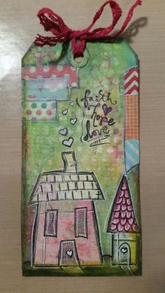 Tag made with dyan reavely house stamps