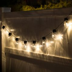 Shop for Solar Edison Style String Lights 10 Bulbs. Get free delivery On EVERYTHING* Overstock - Your Online Outdoor Lighting Store! Pergola Lighting, Landscape Lighting, Outdoor Lighting, Lighting Ideas, Lighting System, Patio String Lights, Globe String Lights, String Lighting, Light String