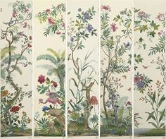 Zuber. French Panoramic Wallpaper - 'DECOR CHINOIS'.
