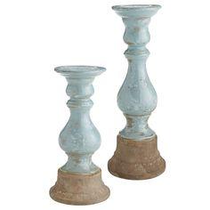 Blue Terracotta Pillar Stands | Pier 1 Imports