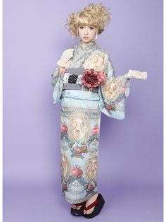 This is more of a kimono look, but I wanted to put it here due to it's modern print twist : )