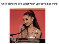 Ariana Grande Saying Bad Word