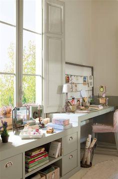 <3 Otro escritorio lindo, qué ventanas!!