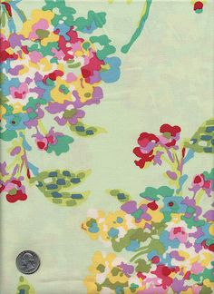 1/2 Yard  Amy Butler LOVE Water Boquet AB51 Mint by viasplace
