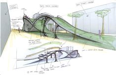 Image of: architecture design concept transformation page herskhazeen downtown urban design concept plan by beaumontalberta Folding Architecture, Architecture Concept Drawings, Landscape Architecture Design, Green Architecture, Bridges Architecture, Architecture Diagrams, Classical Architecture, Ancient Architecture, Sustainable Architecture