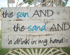 Muestra de decoración de playa / la arena por TheCrickettyCottage