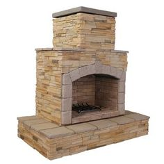 Cal Flame 78 in. Brown Cultured Stone Propane Gas Outdoor - The Home Depot Natural Gas Outdoor Fireplace, Rustic Outdoor Fireplaces, Outdoor Fireplace Patio, Outdoor Fireplace Designs, Outdoor Stone, Fireplace Ideas, Stone Fireplaces, Gas Fireplace, Stone Veneer Exterior