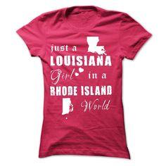 LOUISIANA GIRL IN RHODE ISLAND T-Shirts, Hoodies. VIEW DETAIL ==►…