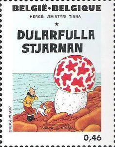 Belgian stamps Hergé, 1907-2007.'De geheimzinnige ster'
