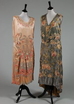 Embellished Satin Dresses, ca. 1920s  via Kerry Taylor Auctions