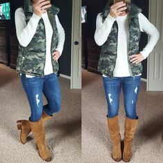 Wear It For Less: What I Wore: $15 (reg $30) Puffer Vest!