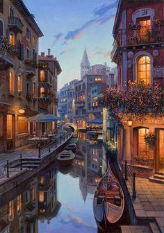 The world of Mary Antony: City Landescape Eugene Lushpin