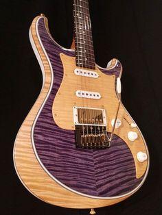 Knaggs Guitars Severn T2 Trem HSS Double Purf in Caroline Fields, Maple pick…