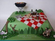BBQ Birthday Cake  Cake by Arrayofcakes