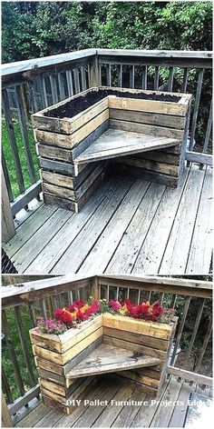 1 particular important thing with pallet furniture is that are going to want to finish it. As a very affordable choice, you can choose on pallet patio furniture. A tutorial regarding how you are able to make your pallet patio… Continue Reading → Wooden Pallet Projects, Wooden Pallet Furniture, Wooden Pallets, Outdoor Projects, Pallet Wood, Pallet Porch, Pallet House, Garden Pallet, Skid Pallet