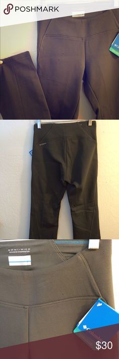 Columbia cold weather athletic pants NWT Columbia brand Omni-wick advanced evaporation athletic pants. True size XS. These are really nice and are thick enough to keep you warm as fall and winter approach.  The fabric on the inside is so soft.  Perfect condition...the 2 little spots aren't on the pants. It's from my phone camera.😕 Columbia Pants Track Pants & Joggers