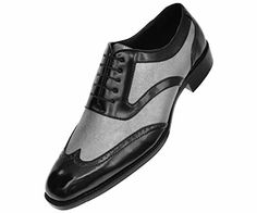 Bolano Mens Classic Two Tone Silver Metallic and Black Smooth Wingtip Oxford Tuxedo Dress Shoe : Style Lawson-211 Bolano http://www.amazon.com/dp/B01BWXSYII/ref=cm_sw_r_pi_dp_BD..wb03602BE